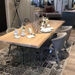 Tavolo fisso con piano legno